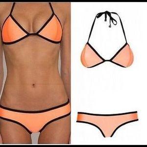 orange triangle swimwear bikini 🍊